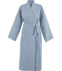bio-wafelpiqué badjas, nachtblauw s