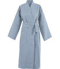 bio-wafelpiqué badjas, nachtblauw m