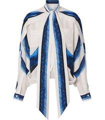 burberry mermaid tail cape blouse - blue