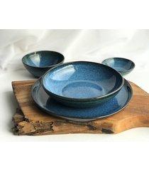 zestaw ceramiczny talerz plus miska