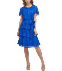 jessica howard petite tiered chiffon dress
