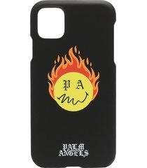 palm angels burning head iphone 11 case - black