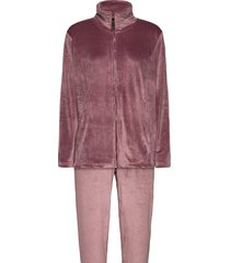 decoy velour homewear set pyjamas rosa decoy