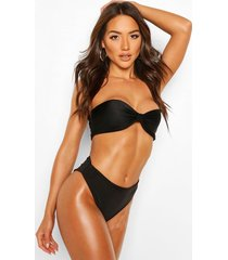 mix & match high waist bikini brief, black