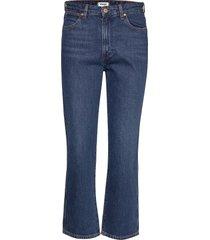 the retro authentic dark jeans wijde pijpen blauw wrangler