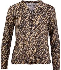 blouse zebra beige