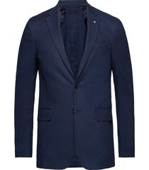 o2. the stretch linen suit jacket blazer kavaj blå gant