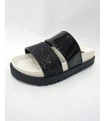 sandalia negra sibenik mirka glitter