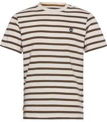yd stripe tee t-shirts short-sleeved vit timberland