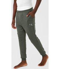 calça de moletom calvin klein underwear jogger logo verde