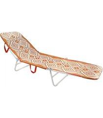 cadeira espreguiçadeira dobrável  mormaii - laranja - tricae
