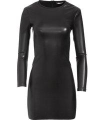 alice+olivia inka mini dress - black