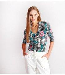 camiseta para mujer en poliester color-multicolor-talla-m