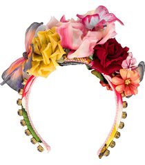 dolce & gabbana appliquéd flower headband - red
