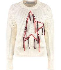 golden goose dottie virgin wool crew-neck sweater