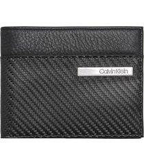 billetera carbon leather negro calvin klein