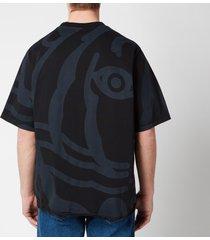 kenzo men's tiger crest t-shirt - black - m