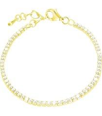 bracciale in metallo dorato e cristalli per donna