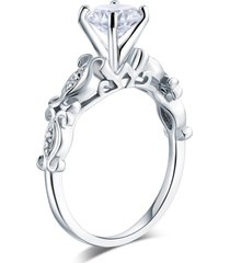 925 sterling silver engagement ring vintage style 1.25 ct affordable lab diamond