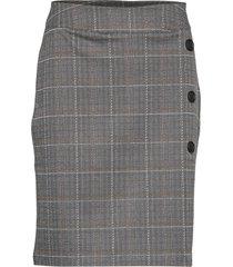 skirt-jersey knälång kjol grå brandtex