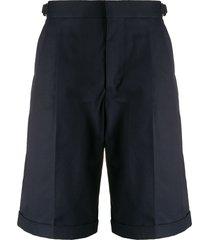 alexander mcqueen mid-length tailored shorts - blue