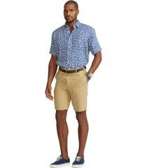 polo ralph lauren men's big & tall classic fit linen-cotton shorts