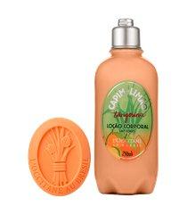rotina banho e hidratação capim-limão tangerina