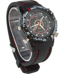 8gb hd high-quality spy nanny cam hidden covert camera wrist watch black new
