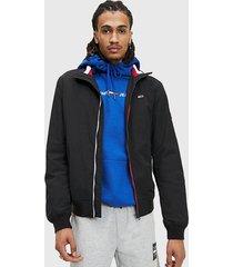 bomber tommy jeans tjm essential bomber jacket negro - calce regular