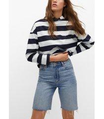 mango women's cropped cotton sweatshirt