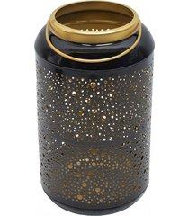 lampion metalowy świecznik ażurowy czarny