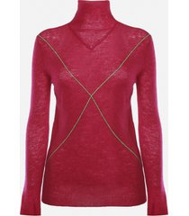 bottega veneta mohair sweater with contrasting details
