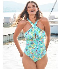 pattaya cross front soft tummy control one-piece swimsuit