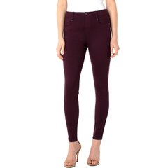 women's liverpool gia glider knit pull-on pants, size 2 - purple