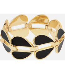 kate spade new york women's heritage spade heart link bracelet - black/multi