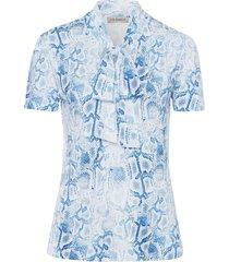 shirt met ronde hals en slangenprint van uta raasch multicolour