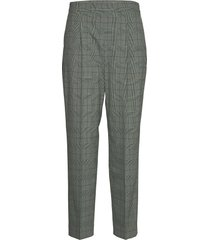 high waist pleated tapered pant byxa med raka ben grå calvin klein