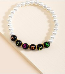 women's fierce beaded bracelet in multi by francesca's - size: one size