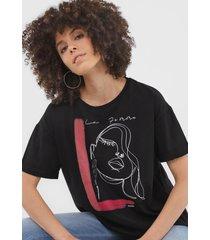 camiseta sommer la femme preta