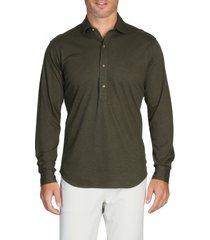 men's alton lane harris everyday cotton pique popover shirt, size large r - green