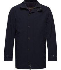 grayson coat dunne lange jas blauw oscar jacobson