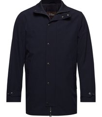 grayson jacket dunne lange jas blauw oscar jacobson