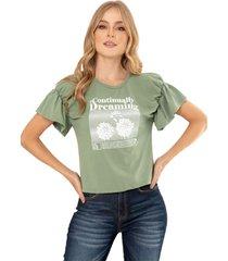camiseta dreaming verde ragged pf51120553