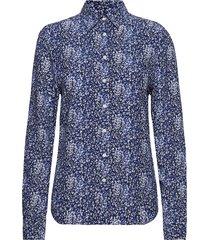 o2. snowdrop spread shirt blouse overhemd met lange mouwen blauw gant