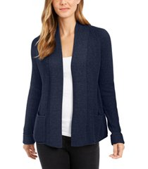 charter club petite cotton cropped cardigan, created for macy's
