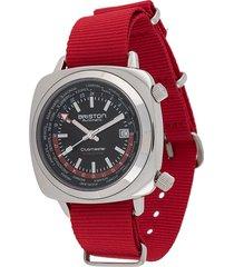 briston watches clubmaster worldtime 42mm watch - black