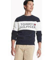 tommy hilfiger men's essential logo sweatshirt sky captain - xxl