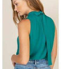 camisa halter con lazo
