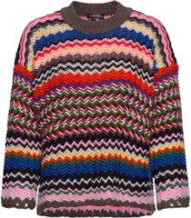 rebeka, 965 zig zag knit gebreide trui multi/patroon stine goya