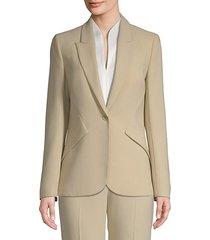 allegra tailored crepe blazer